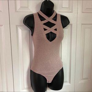Crisscross Ribbed Bodysuit